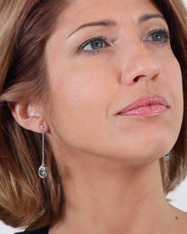 Video: 925 Sterlingsilber Perlmutt Abalone Ovale Form Ohrringe