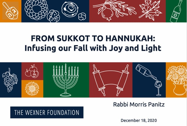 From Sukkot to Hannukah Session 6
