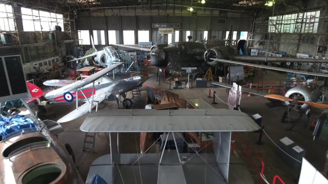 Andys Video of Drones view of the old Bellman Hangar's interior