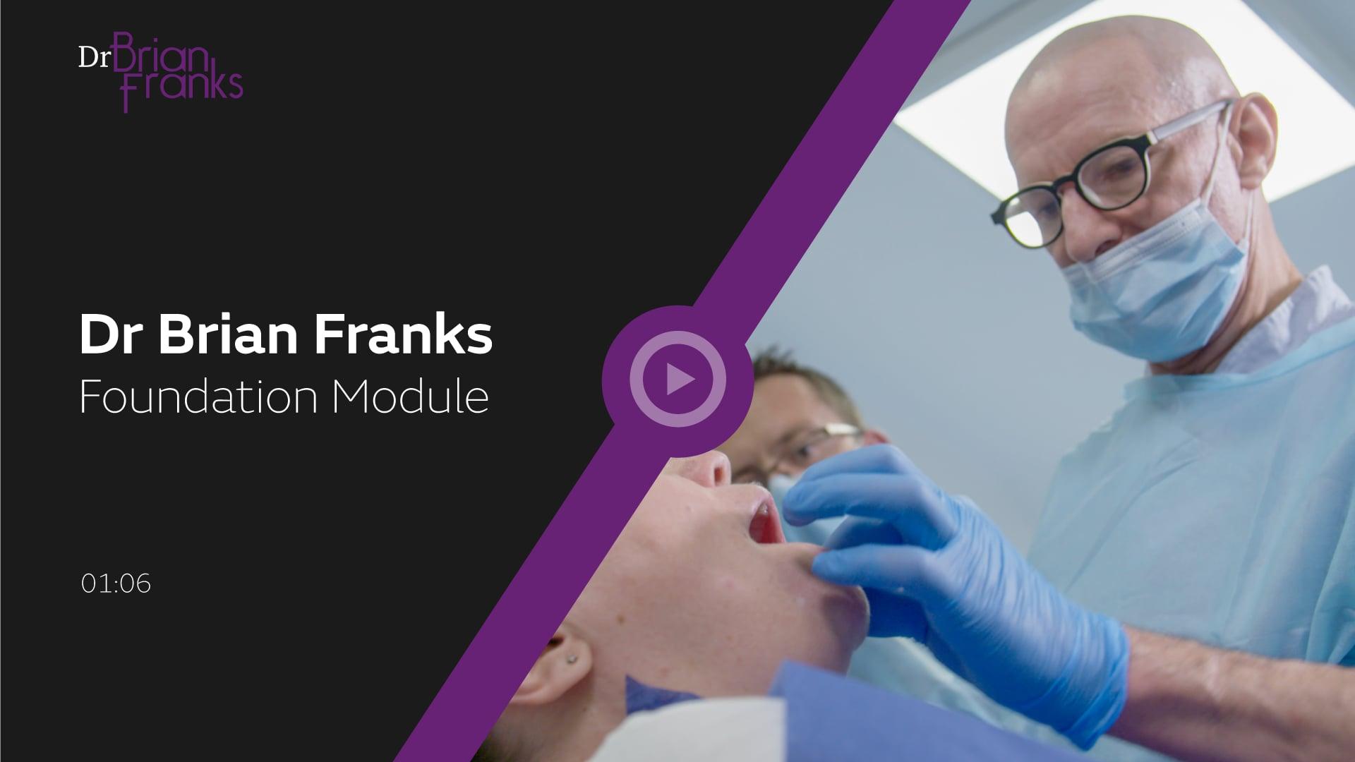 Dr Brian Franks - Facial Aesthetic Training