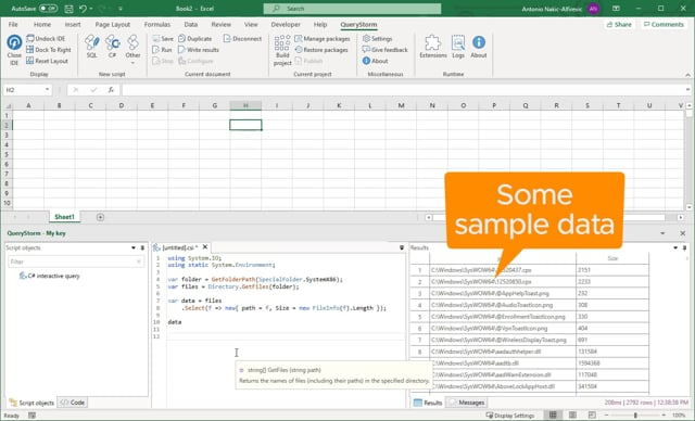 Fetching data into Excel via C#