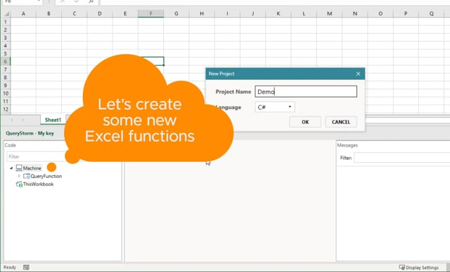 Excel functions via .NET