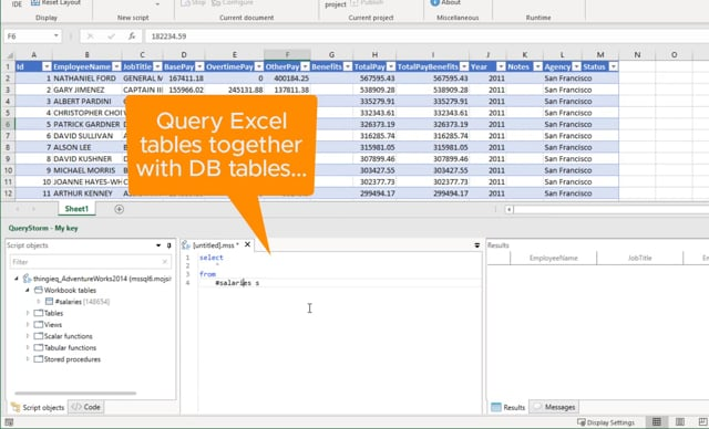Connect Excel to databases