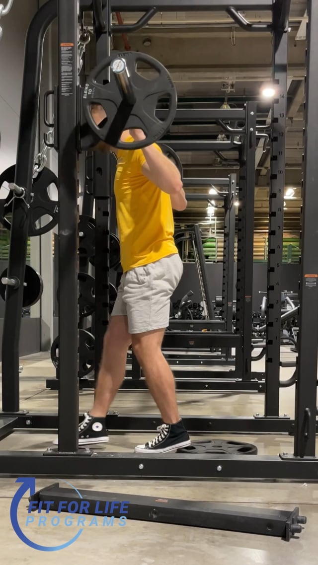 Barbell Back Squat, close stance