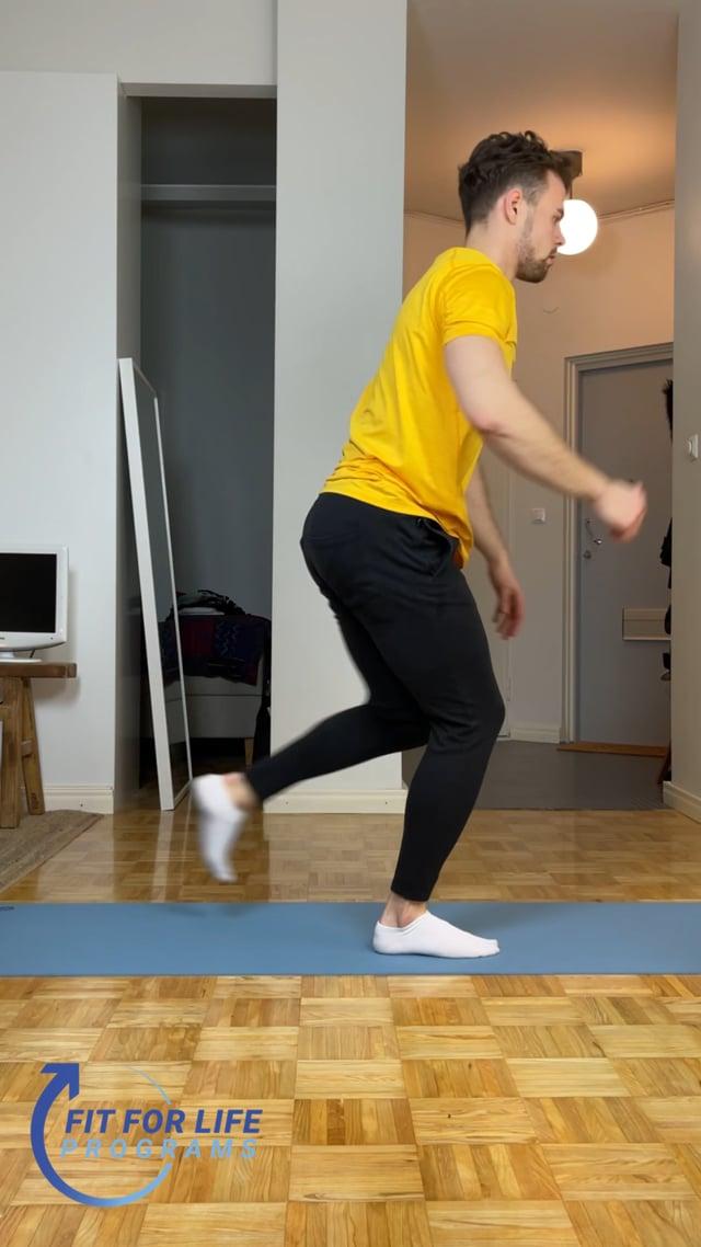Stepback Lunge Jump, single leg