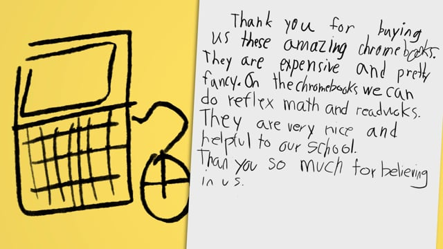 Education Foundation -  Thank You Letters