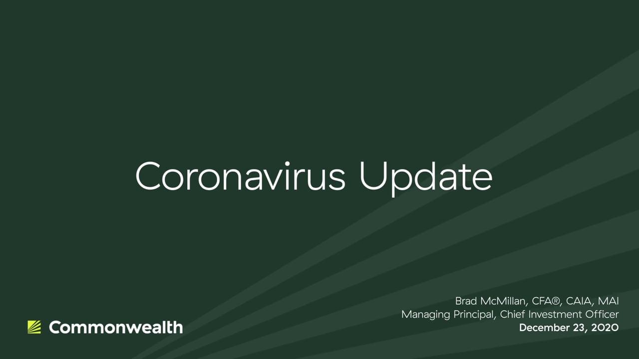Coronavirus Update from Commonwealth CIO Brad McMillan, December 23, 2020