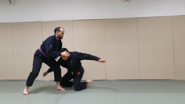 Single leg en rotation