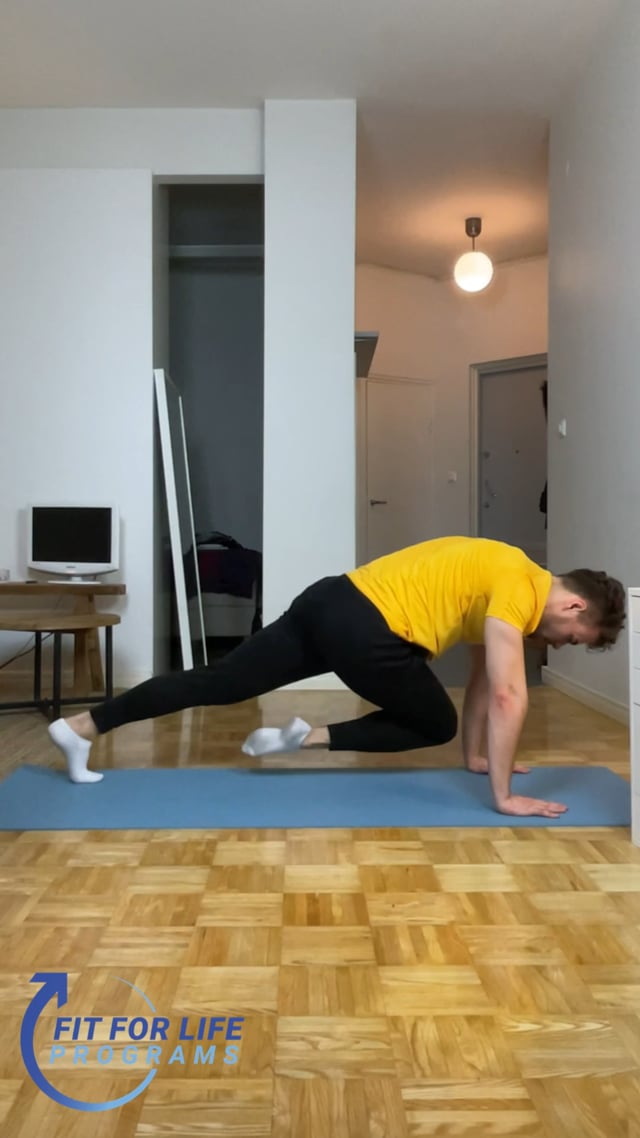 Push Up Plank Knee to the Elbow