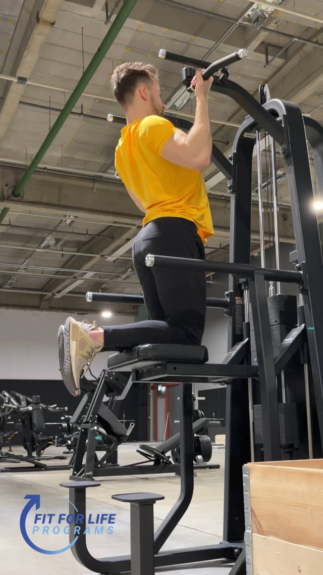 Machine Supported Pull Up, reverse grip