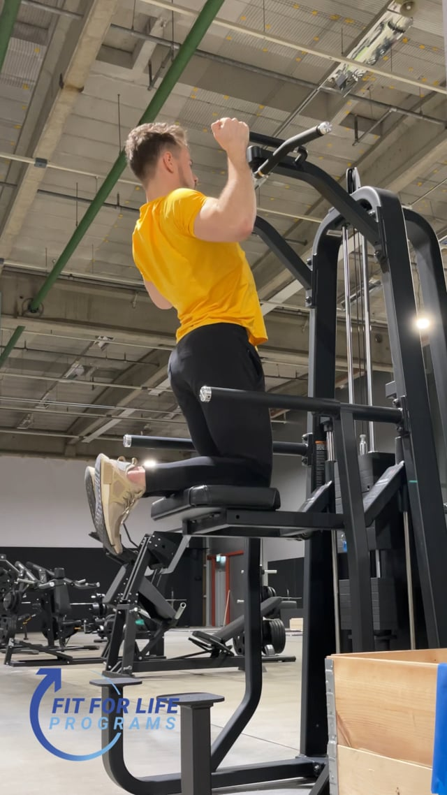 Machine Supported Pull Up, hammer grip