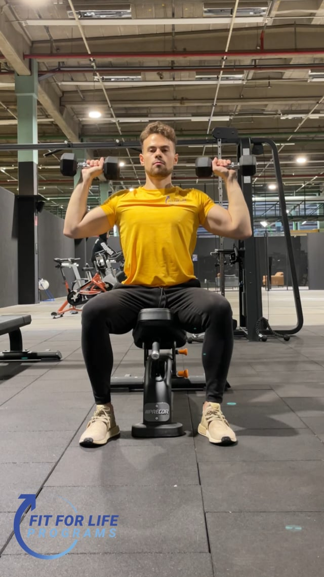 Dumbbell Overhead Press, seated