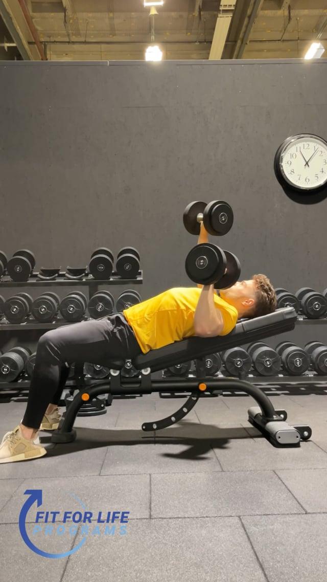 Dumbbell Bench Press, incline, alternating
