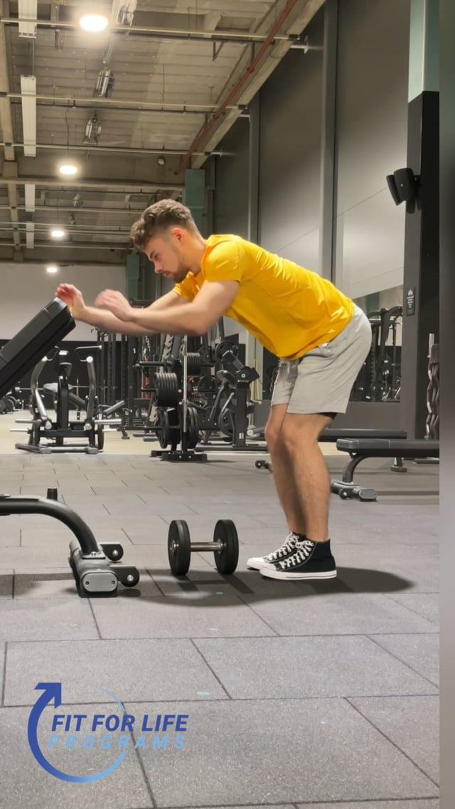 Dumbbell Row, single arm, standing