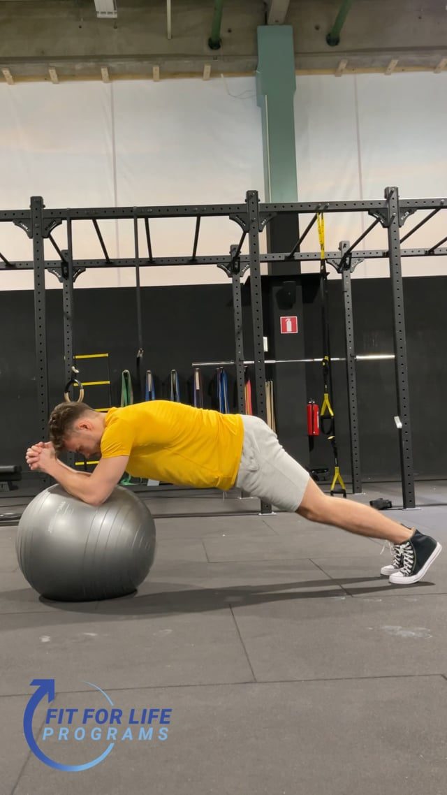 Ball Plank Back & Forth