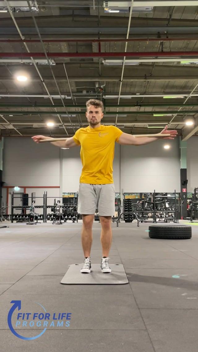 Dynamic Stretching, stick twist 2