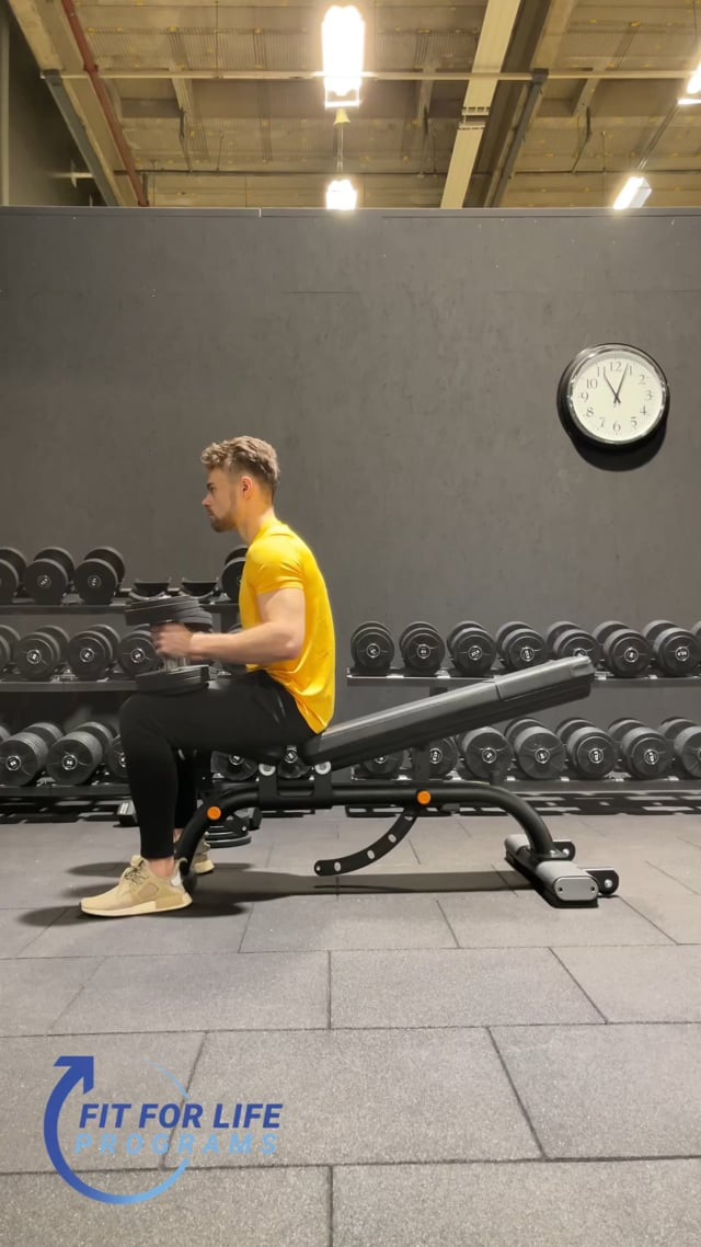 Dumbbell Bench Press, incline