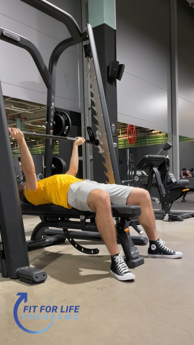 Smith Machine Bench Press, reverse grip