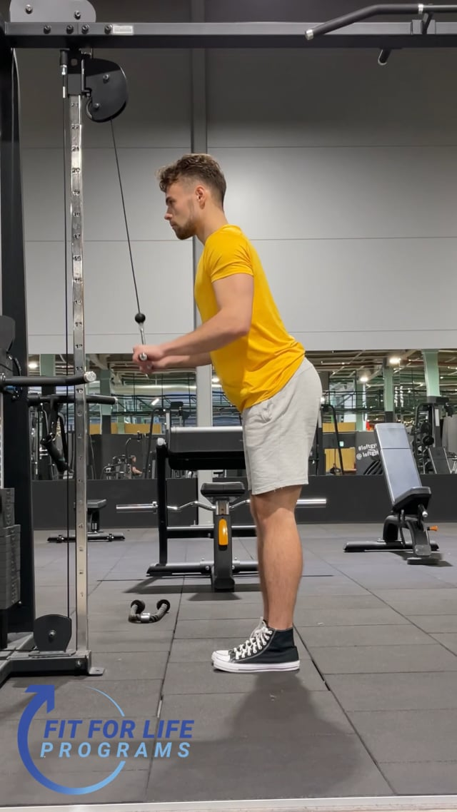 Cable Pushdown, straight bar