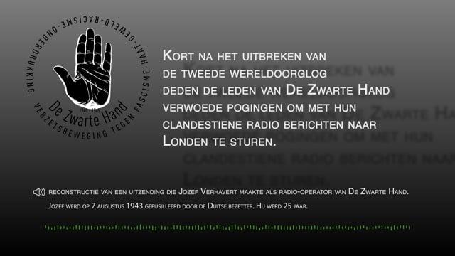 De radiozender van de Zwarte Hand