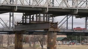 Construction on Suspension Bridge Continues