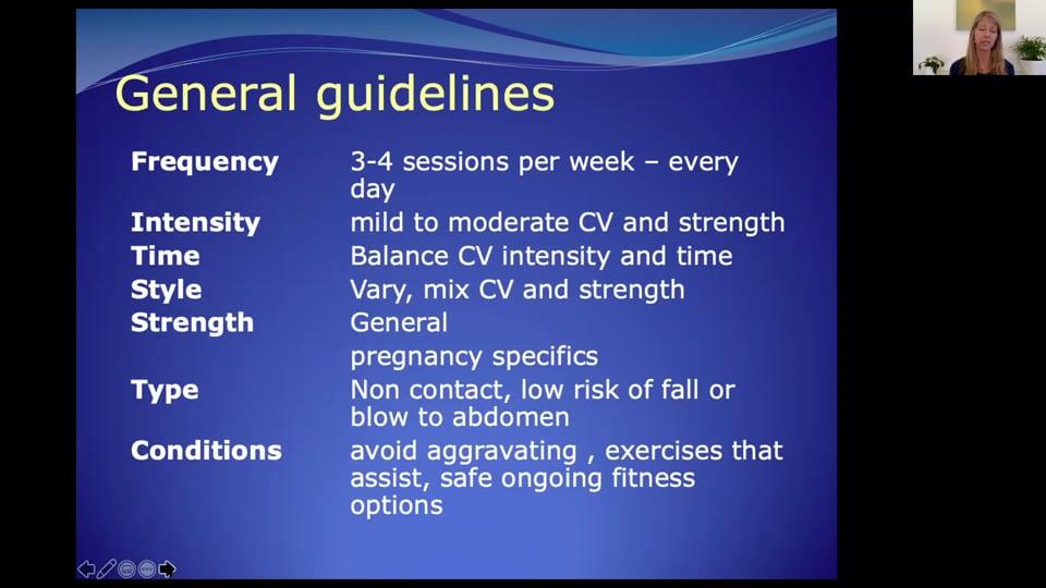 Prenatal/General Guidelines