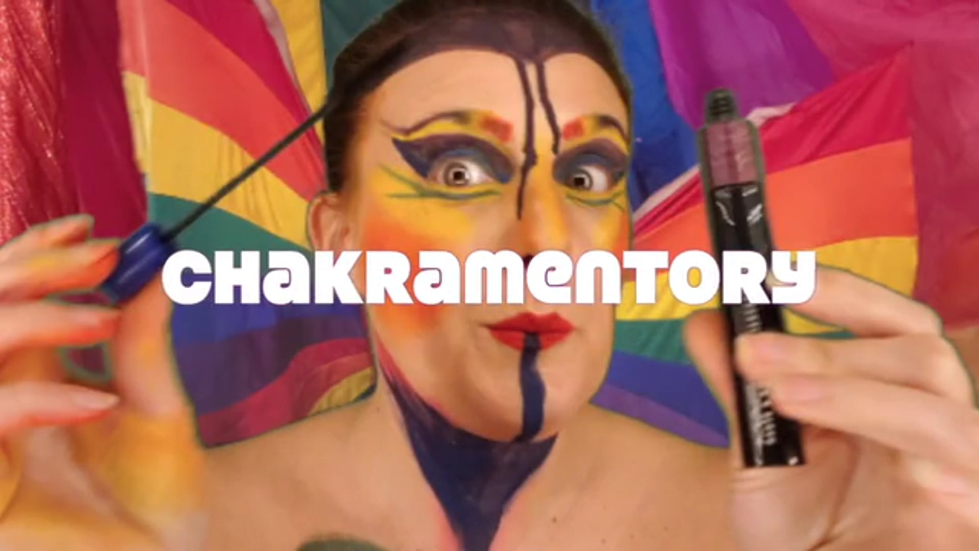 Year in Rainbow NEW WORK #4 Chakramentory Episode 3  Makeup Meditation