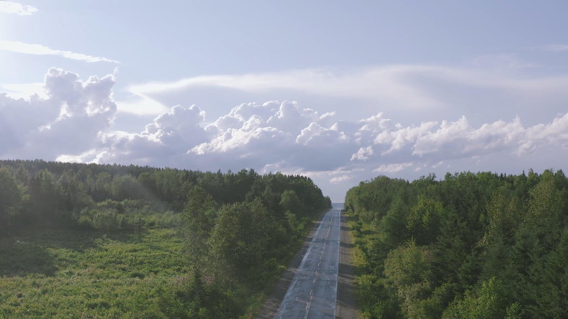 La route des Monts-Notre-dame