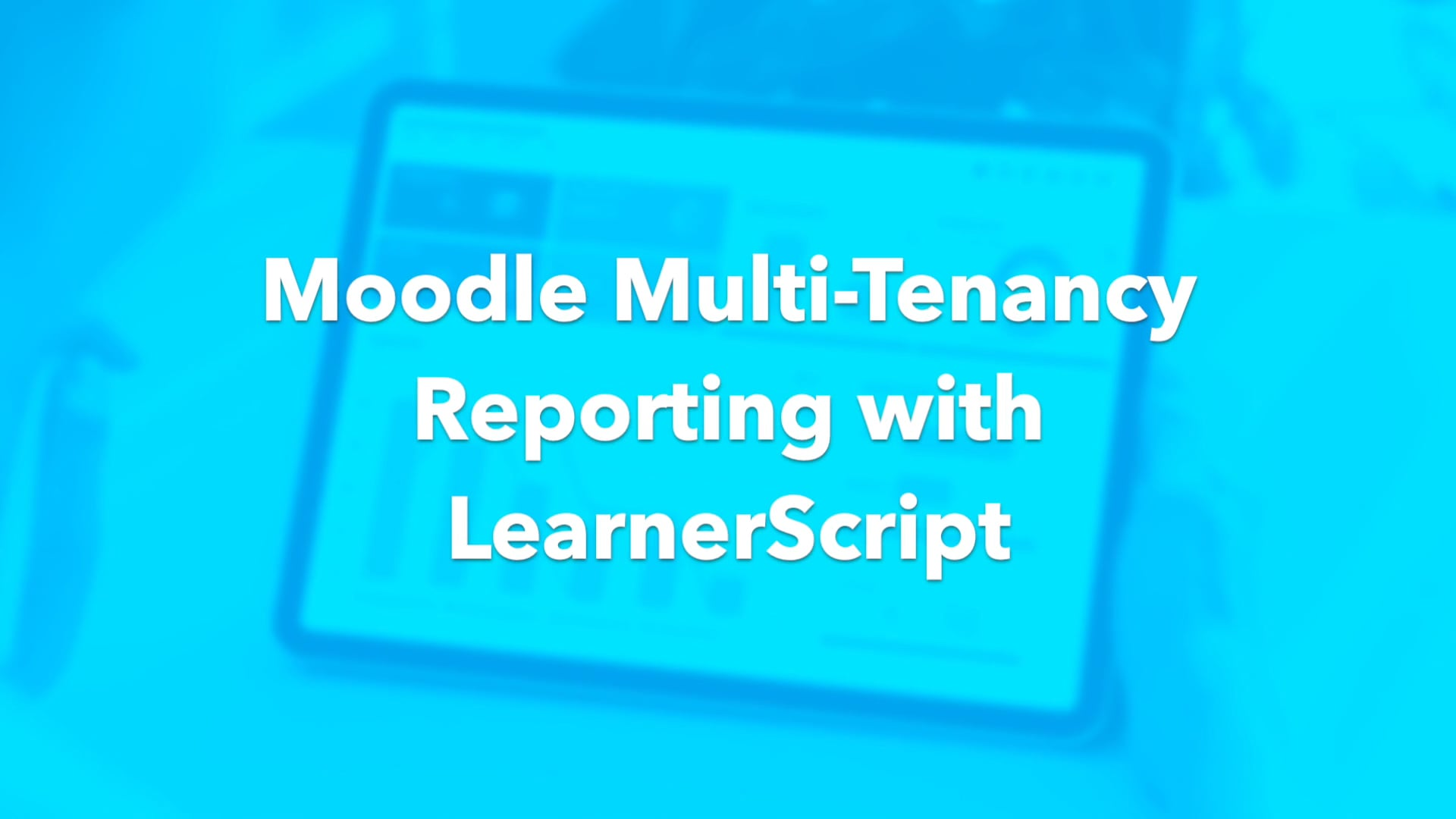 How to report on a Multi-tenancy Moodle