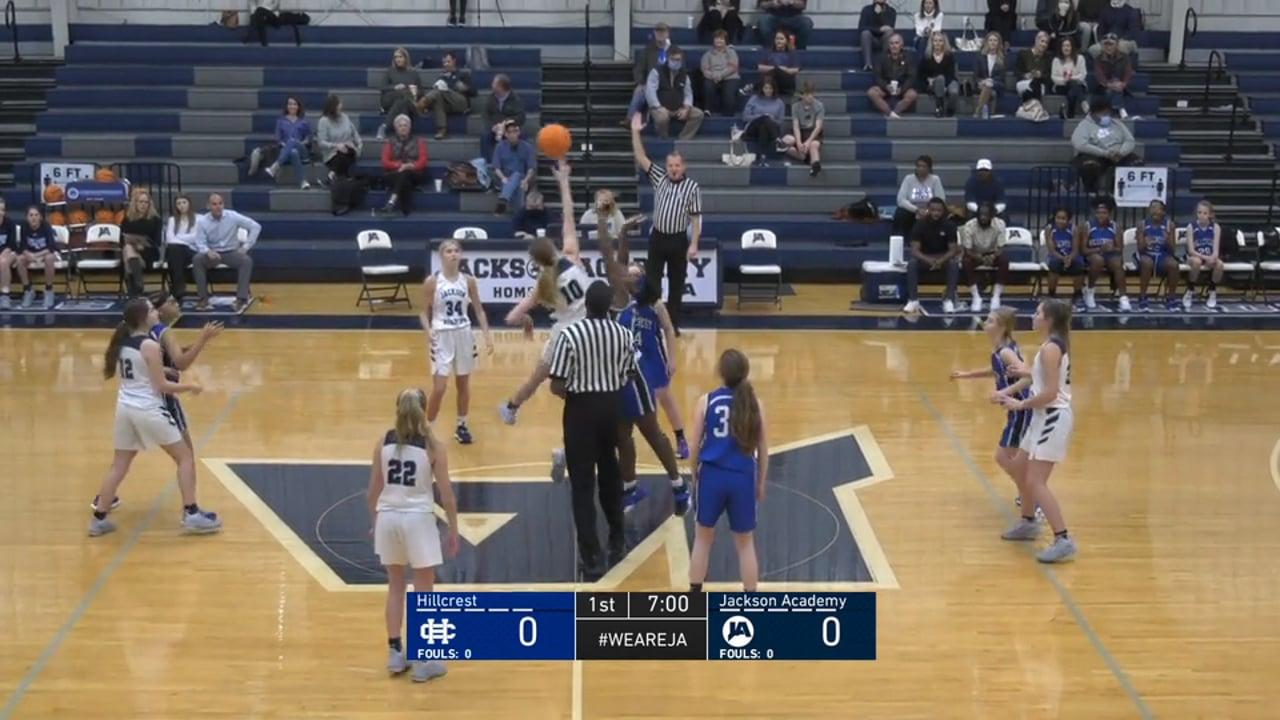 JV Girls Basketball vs Hillcrest Christian - 01-04-21
