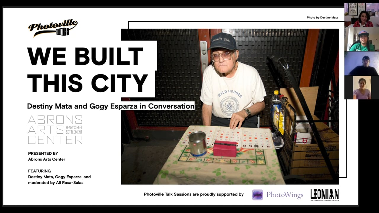 """""""We Built This City: Destiny Mata and Gogy Esparza in Conversation"""" presented with Abrons Art Center"""