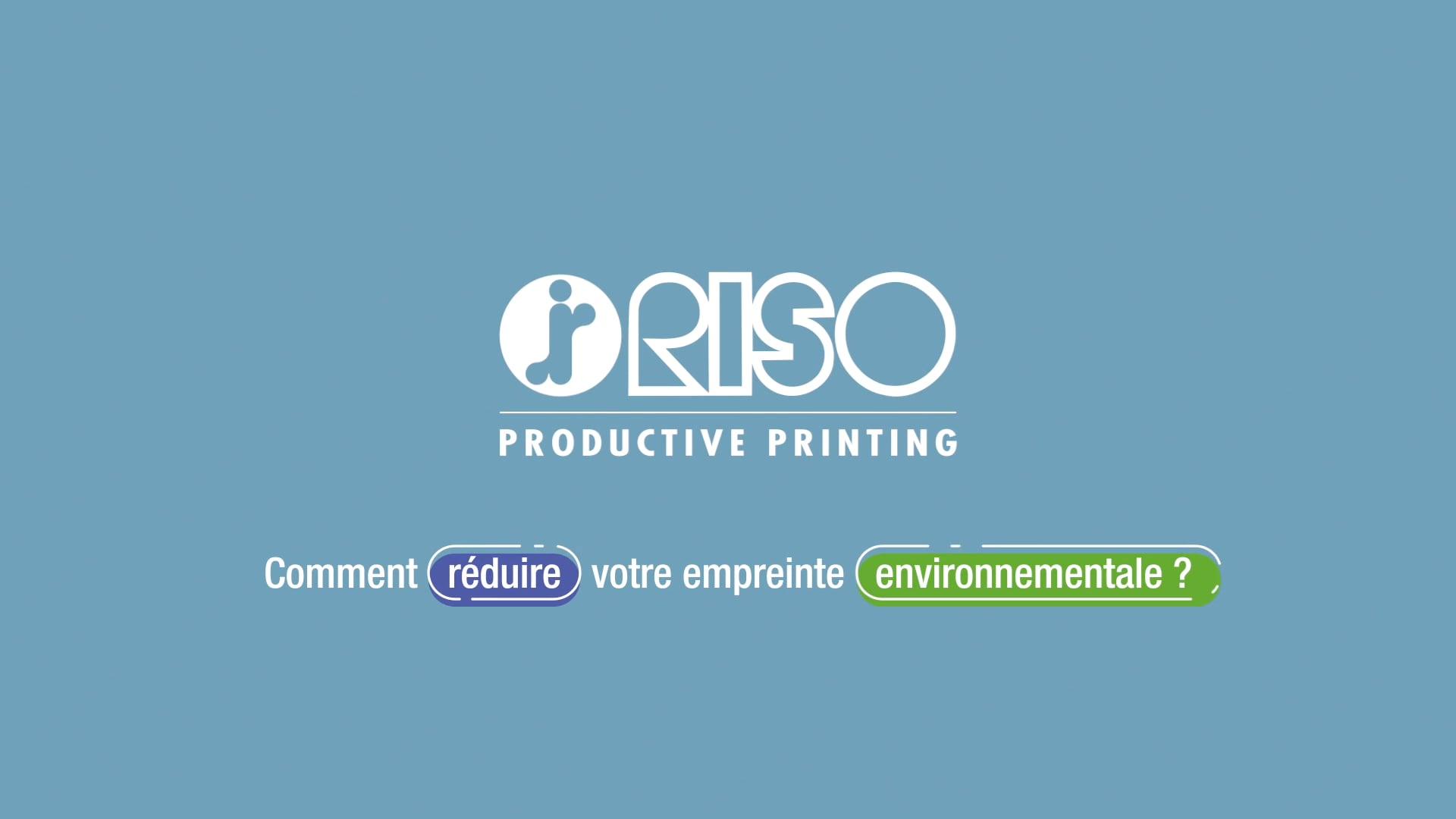 Réduisez votre empreinte environnementale avec RISO