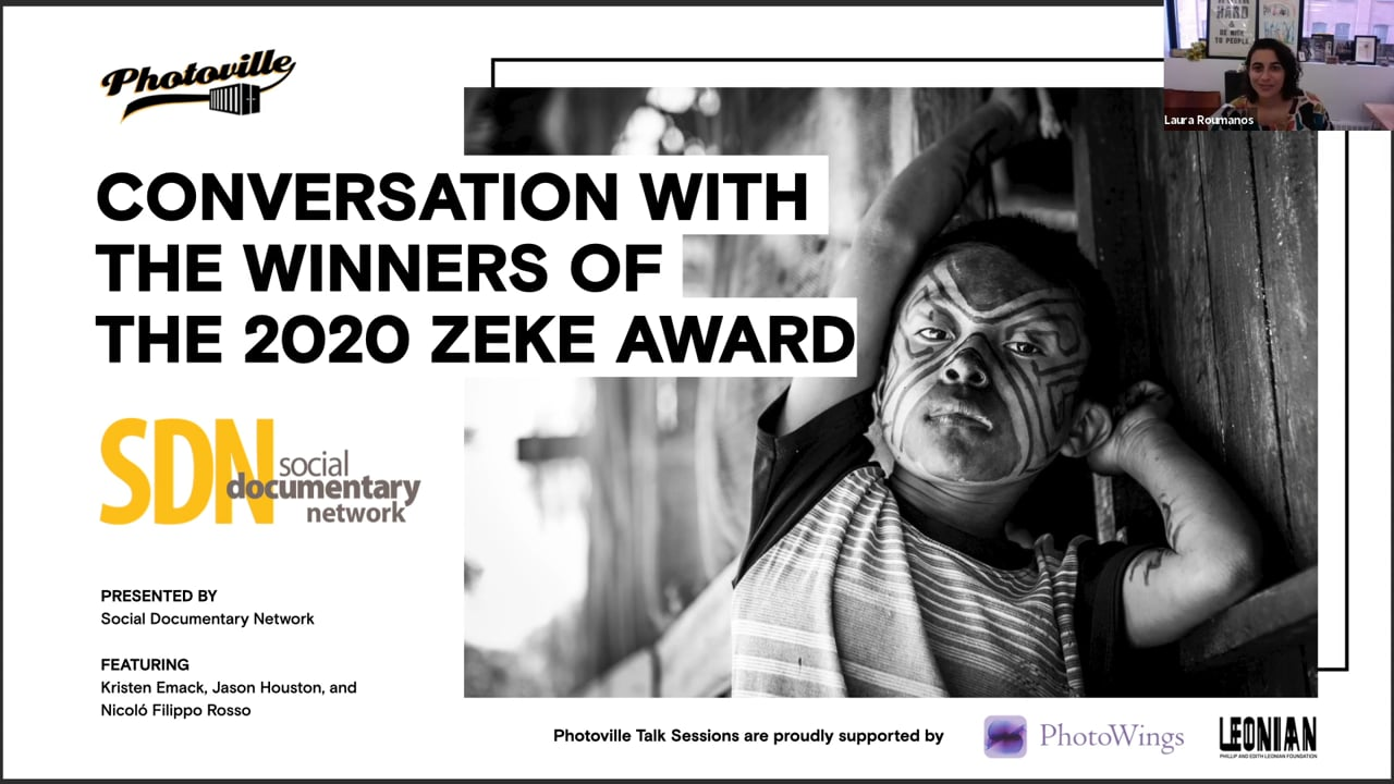 """""""Conversation with the Winners of the 2020 Zeke Award"""" presented with Social Documentary Network"""