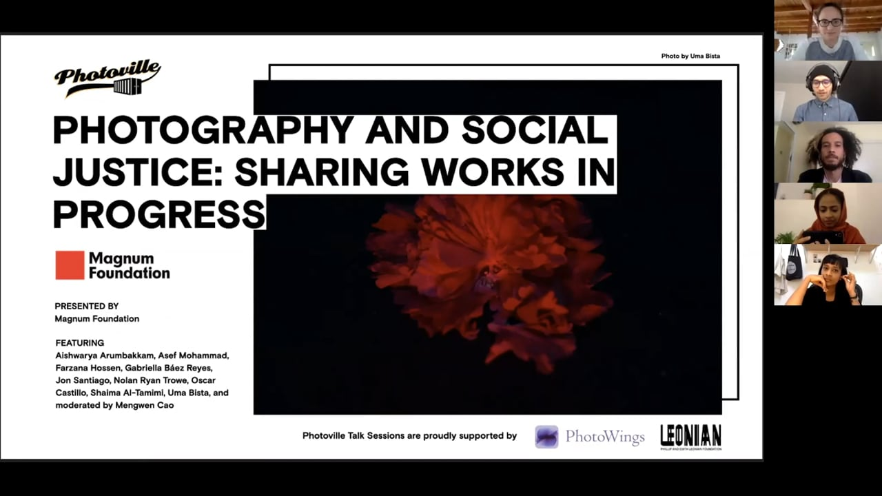 """""""Photography and Social Justice: Sharing Works in Progress"""" presented with The Magnum Foundation"""