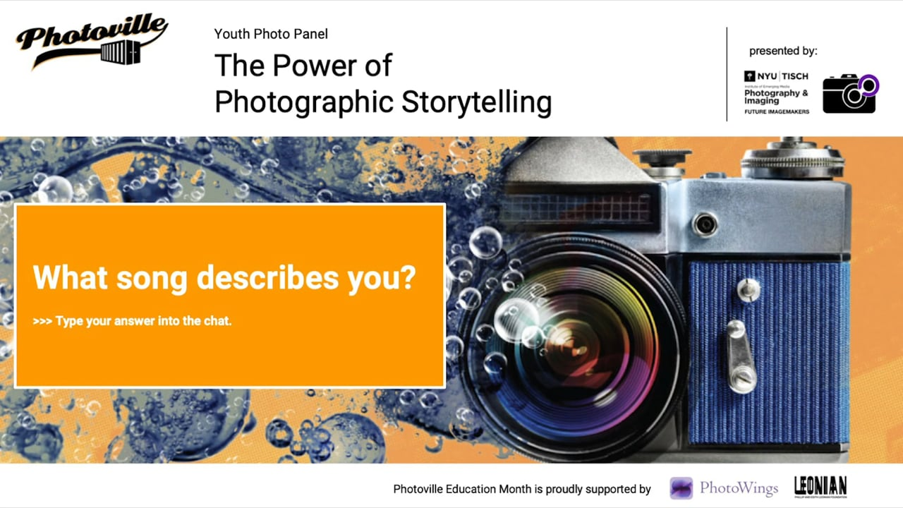 """""""The Power of Photographic Storytelling"""" presented with NYU Tisch Department of Photography and Imaging"""