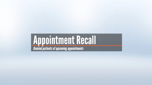 Appointment Recall