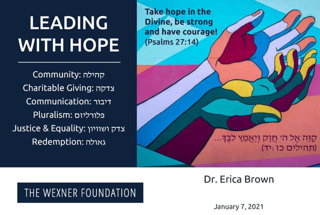 Witness to Chaos: Leading Toward Hope with Dr. Erica Brown