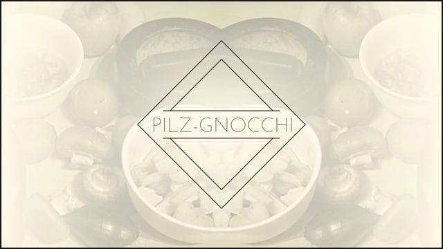 Pilz-Gnocchi mit Chapignon-Rahmsauce und Obstsalat