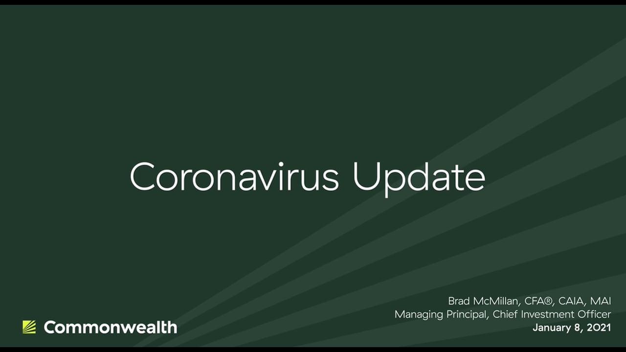 Coronavirus Update from Commonwealth CIO Brad McMillan, January 8, 2021