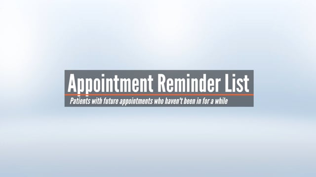 Appointment Reminder List