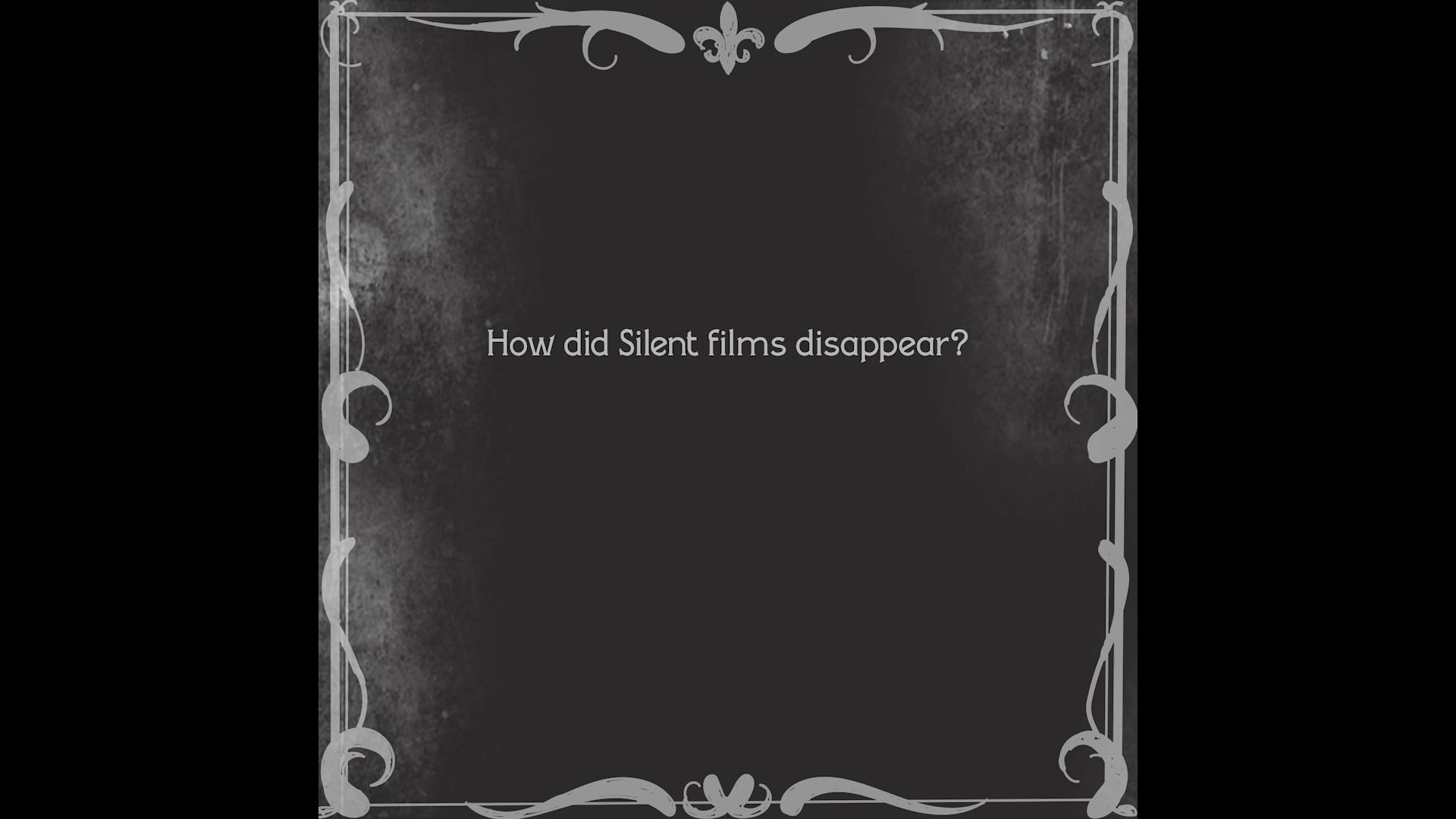 How did silent film disappear