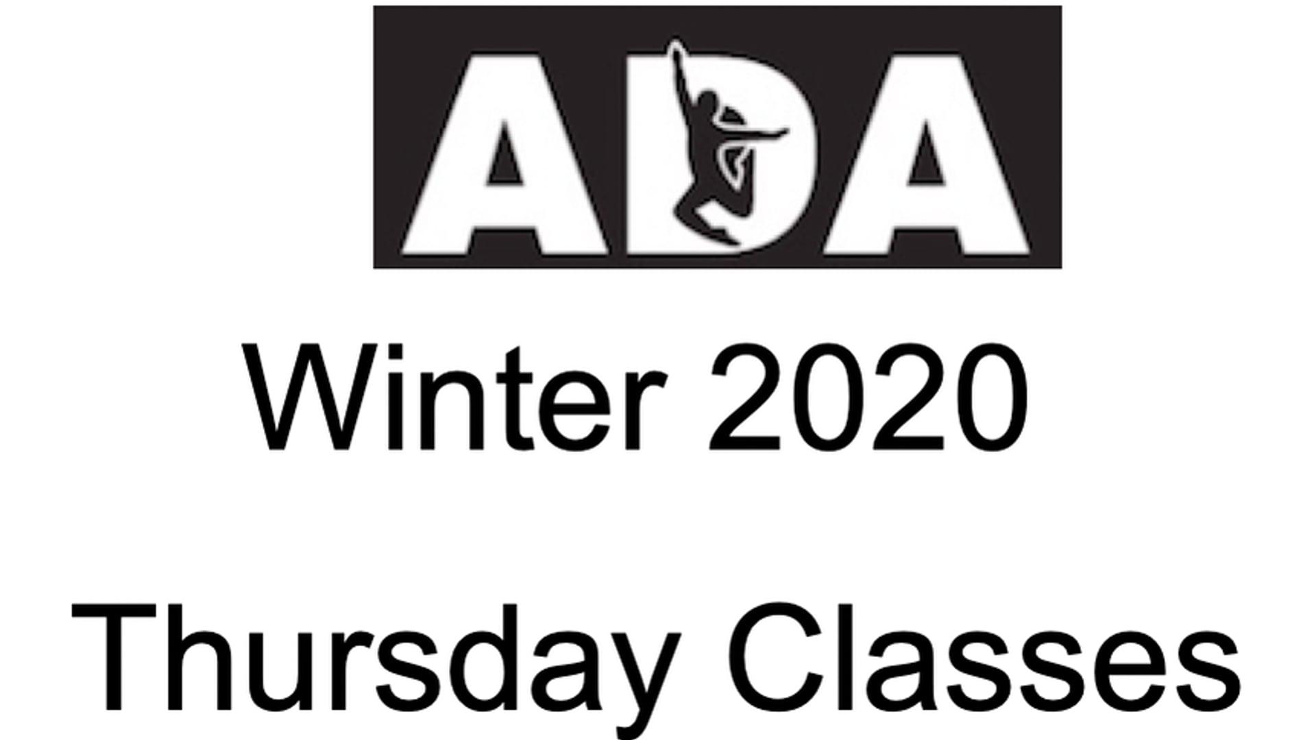 Winter 2020 Thursday