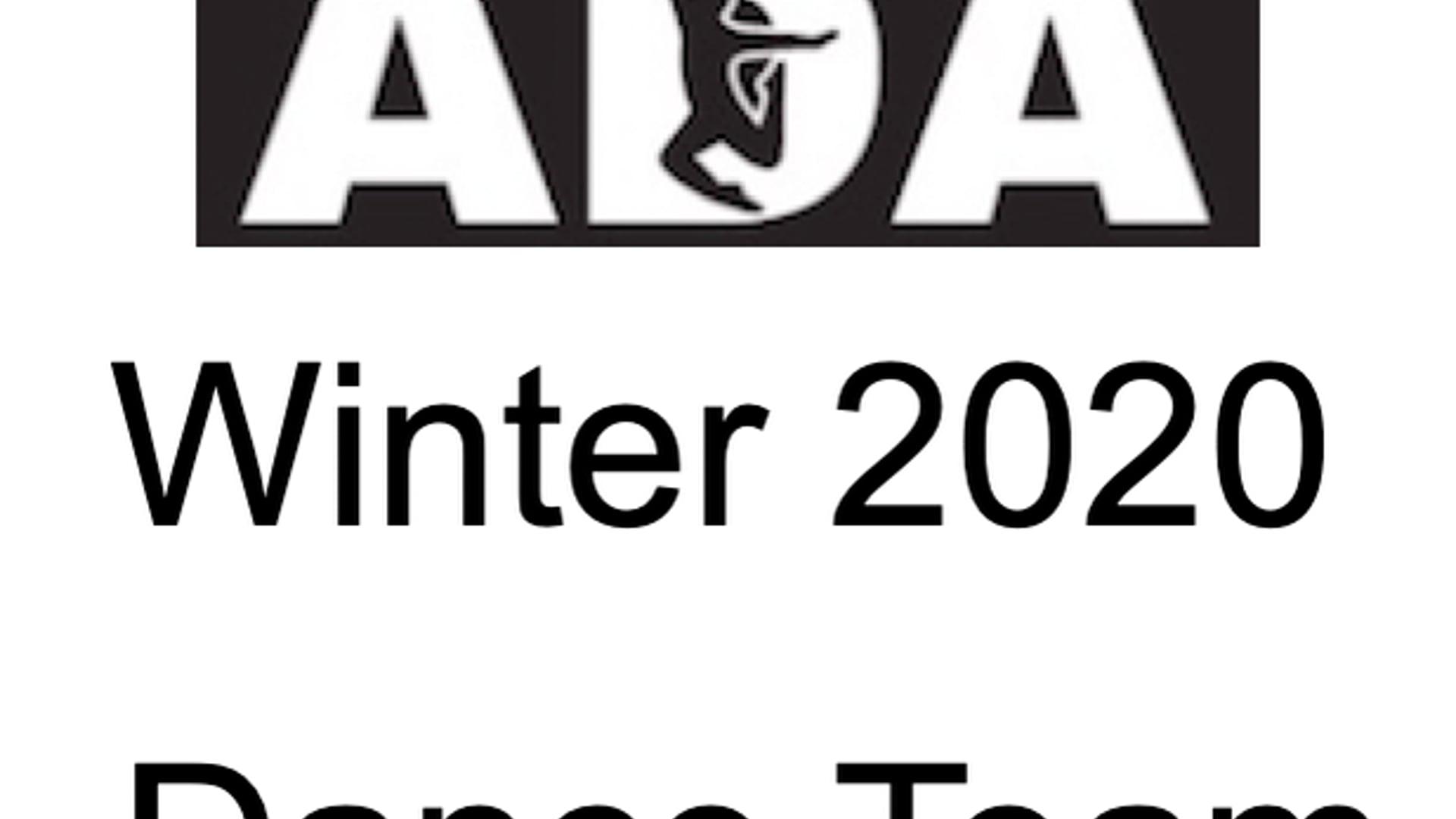 Winter 2020 Dance Team
