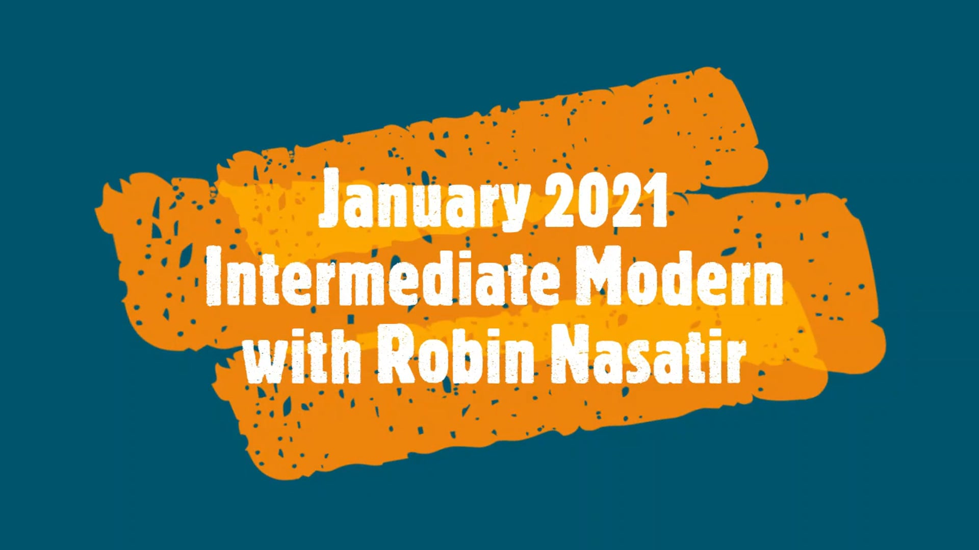 January 2021 Intermediate Modern Dance for 50+