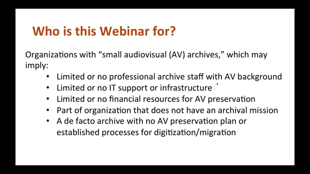 Best Practices for Small Audiovisual Archives: Part 2 – Digitization