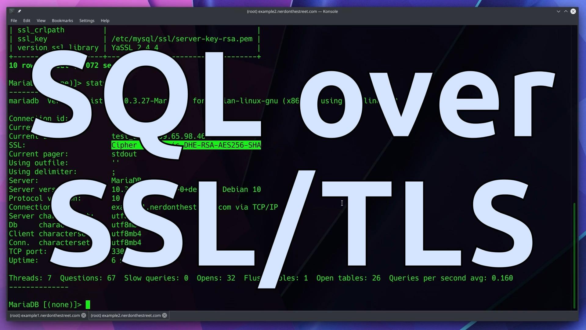 MariaDB SQL over SSL/TLS