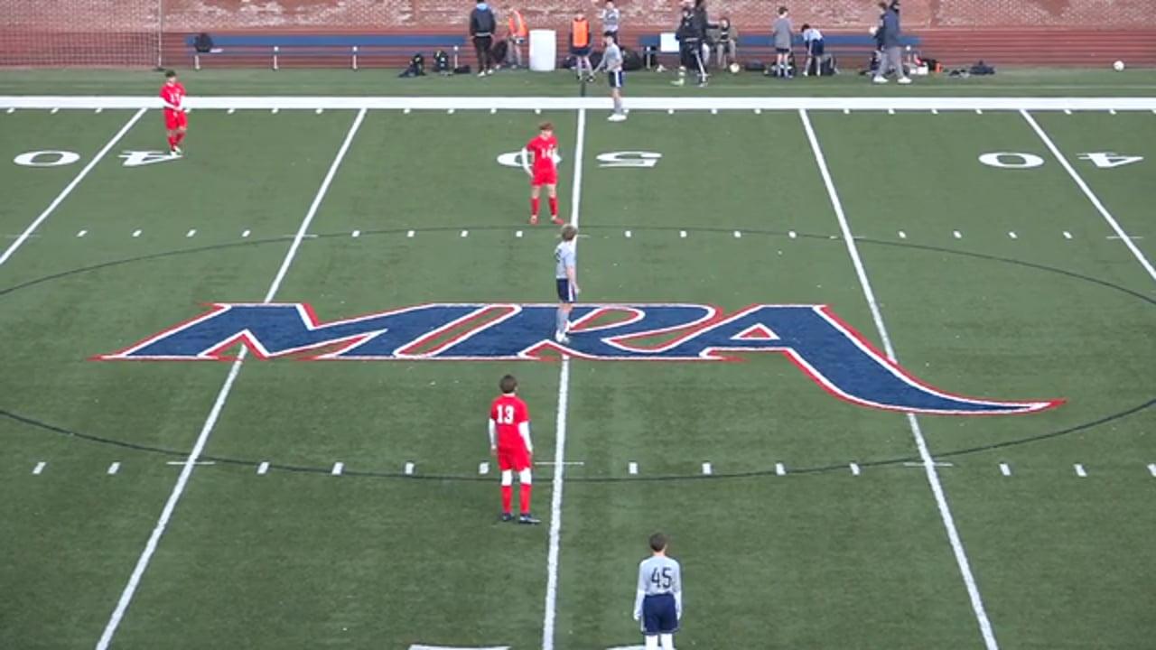 JV Boys Soccer at MRA - 01.12.21