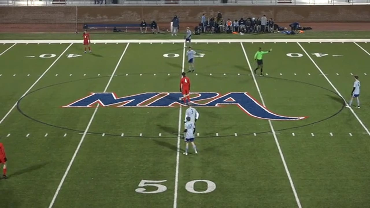 Varsity Boys Soccer at MRA - 01.12.21