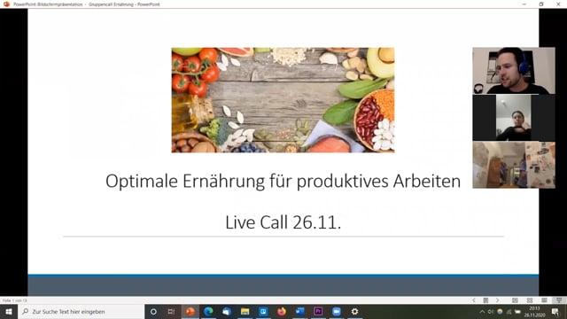Optimale Ernährung für produktives Arbeiten