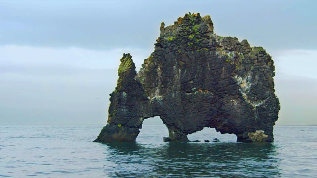 Peaceful Beauty of Hvitserkur, Iceland - HDR Relax Video